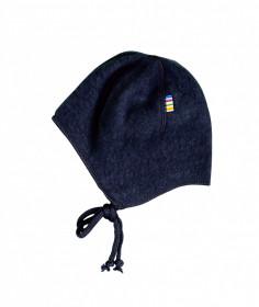 Caciula lână merinos fleece Joha - Navy Blue
