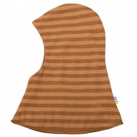 Cagulă dublată reversibilă din lână merinos Joha - Rusty Stripe