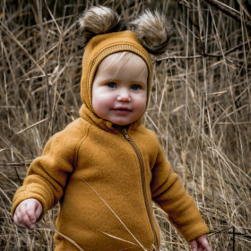 Cagulă lână merinos fleece Mikk-line - Golden Brown