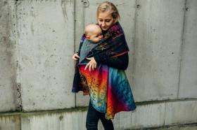 Cardigan lung/protectie babywearing pentru vreme rece, Lenny lamb - Symphony Rainbow Dark