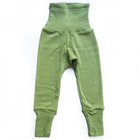 Cei mai comozi pantaloni Cosilana din lână, mătase și bumbac - Verde