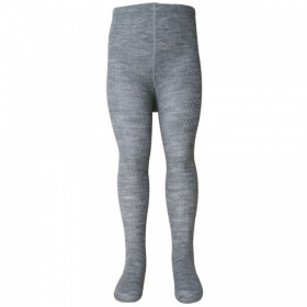 Dres Melton din lână merinos - Basic Rib Light Grey Melange