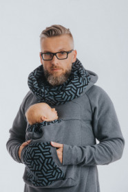 Hanorac pentru babywearing Lenny lamb - JEANS WITH KYANIT (marimea XL)