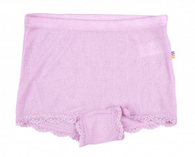 Hipster fete Joha Eyelet lână merinos si mătase - Basic Pink