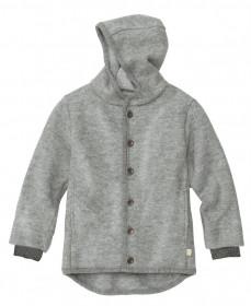 Jacheta cu nasturi din lână fiartă Disana - Grey