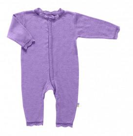 Jumpsuit Joha lână merinos si mătase - Basic Purple