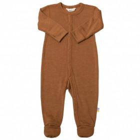 Jumpsuit/Overall din lână merinos și mătase cu/fără șosete Joha - Rusty