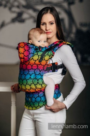 LennyLamb Baby Size, Full Wrap Conversion - RAINBOW STARS DARK  (Second Generation)