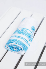 LITTLE SWADDLE ICED LACE TURQUOISE & WHITE, Lennylamb