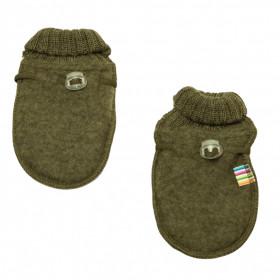 Manusi din lana merinos fleece Joha - Basic Moss Melange