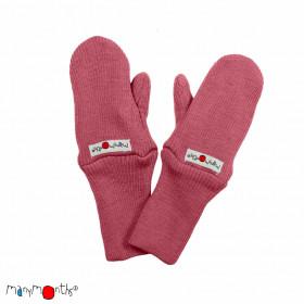 Mănuși dublate din lână merinos ManyMonths - Earth Red