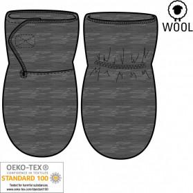 Manusi lana fiarta boiled wool Mikk-line - Grey