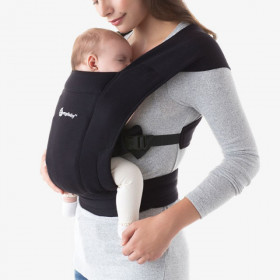 Marsupiu Ergonomic, Ergobaby Embrace Pure Black