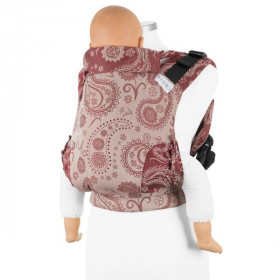Marsupiu Ergonomic,Fidella Fusion 2.0 Toddler Wrap Conversion, Persian Paisley - ruby red