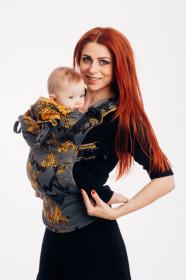 Marsupiu Ergonomic LennyGO Baby Size,Wawa - Grey & Mustard