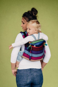 Marsupiu Ergonomic,Lennylamb Onbuhimo Toddler, Carousel of Colors