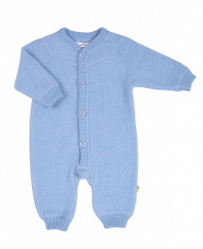Overall lână merinos fleece Joha - Basic Blue Allure