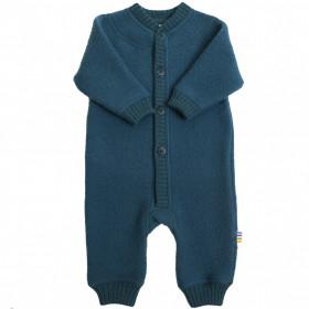 Overall lână merinos fleece Joha - Petrol Blue