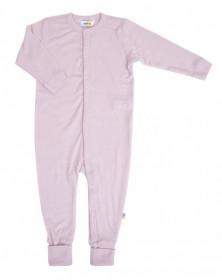Overall/Pijama lână merinos cu/fără șosete Joha - Basic Rose