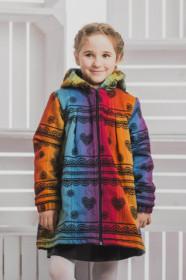 Palton/Haina pentru fetite Lennylamb - Rainbow Lace Dark with Black