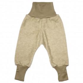 Pantaloni Cosilana lână merinos fleece si bumbac - Latte Machiato