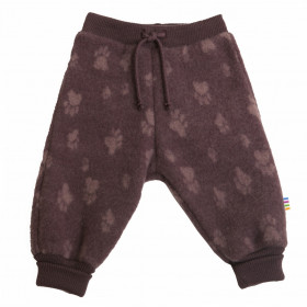 Pantaloni Joha lână merinos fleece - Footprint Purple