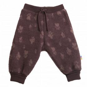 Pantaloni Joha lână merinos fleece - Footprint Purple