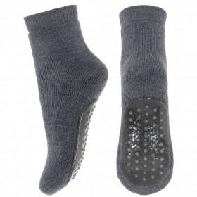 Papuci-sosete groase din lână mp Denmark - Dark Grey