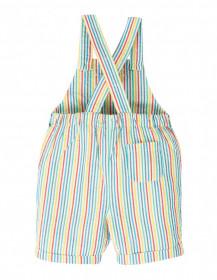 Salopeta din bumbac organic - Rainbow Stripe, Frugi