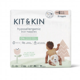 Scutece Hipoalergenice Eco Kit&Kin, Marimea 6, 14 kg +, 26 buc