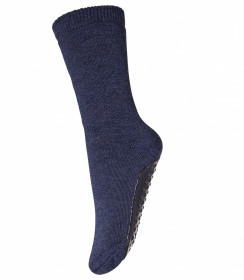 Sosete-papuci groase mp Denmark lână merinos - Dark Denim Blue