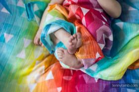 Swaddle Wrap Swallows Rainbow Light , Lennylamb