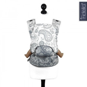 Toddler Size: Fidella Fusion, Persian Paisley smoke - SSC wrap conversion (Transport Gratuit)