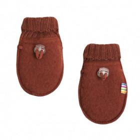 Manusi din lana merinos tip fleece, Joha - Red