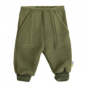 Pantaloni Joha fleece lână merinos - Green