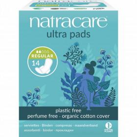 Absorbante normal cu aripioare cu strat de bumbac organic, Natracare
