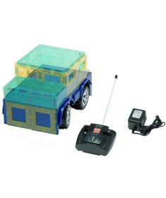 Bază Playmags pentru mașinuță magnetică cu telecomandă - roșie