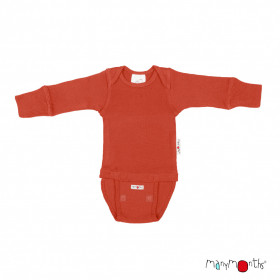 Body/Bluza (2 in 1) ManyMonths lână merinos - Rooibos Red