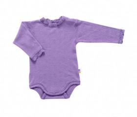 Body Joha Eyelet lână merinos si mătase - Basic Purple