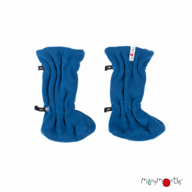 Botosei ajustabili ManyMonths Winter Booties pt babywearing - Cosmos Blue/Midnight Blue