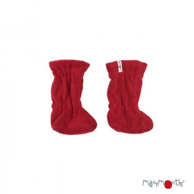 Botosei ManyMonths Winter Booties pt babywearing - Cranberry Nectar/Dark Red