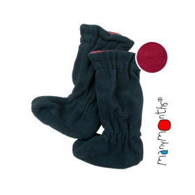 Botosei ManyMonths Winter Booties pt babywearing - Raspberry Red/Black