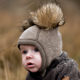 Cagulă lână merinos fleece Mikk-line - Melange Denver