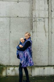 Cardigan lung/protectie babywearing pentru vreme rece, Lenny lamb - Space Lace