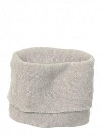 Fular din lână merinos Disana - Grey/Natural