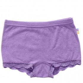 Hipster fete Joha Eyelet lână merinos si mătase - Basic Purple