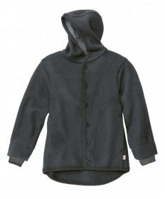 Jacheta cu nasturi din lână fiartă Disana - Anthracite