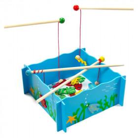 Joc magnetic de pescuit din lemn
