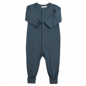 Jumpsuit Joha lână merinos (cu sosetele integrate) - Baby Single Wool Deep Water