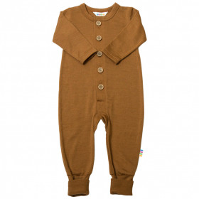 Jumpsuit/Overall din lână merinos cu/fără șosete Joha - Single Wool Rusty